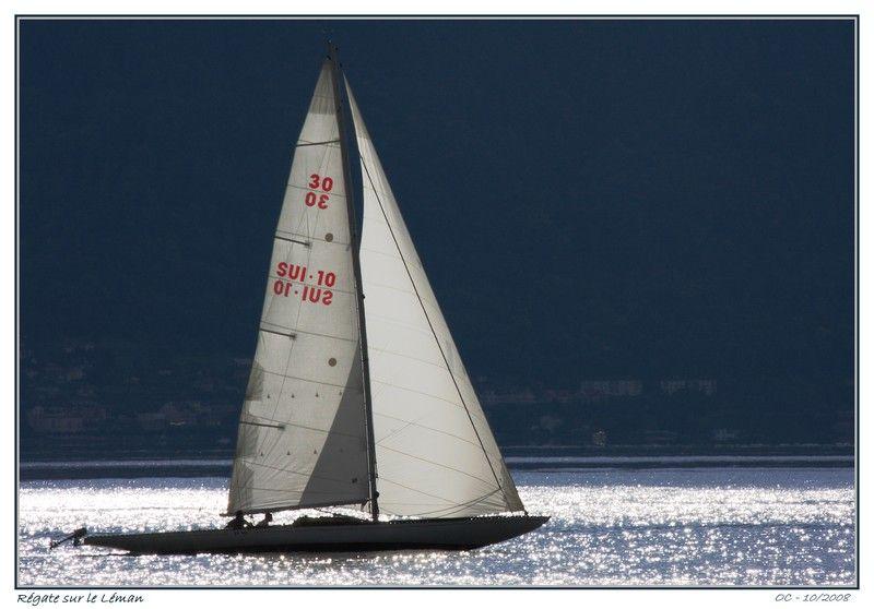 Régate Sailing Tour Peilz on Léman Geneva lake