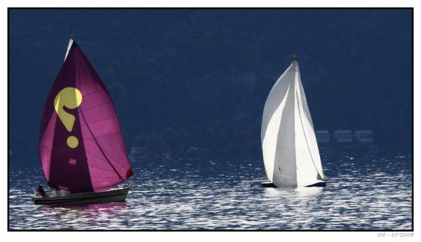 Sailing boats on the Geneva Lake (Léman)