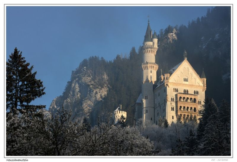 Neuschwanstein  castle in Bavaria Germany