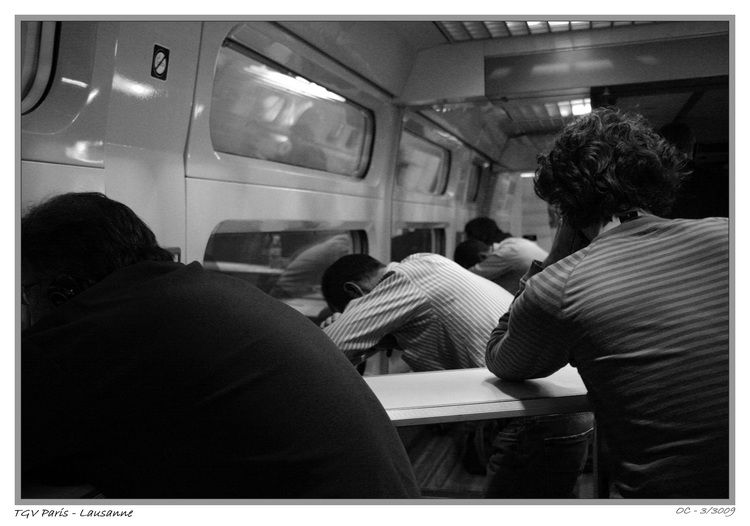 train, Paris, Lausanne, TVG, sleeping