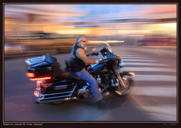 Biker in Santa Fe (New Mexico)