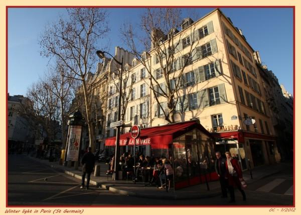 Winter light in Paris (St Germain)
