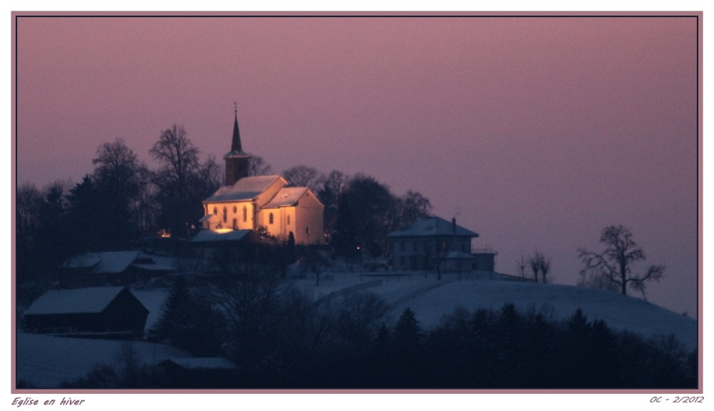 Eglise en hiver - Smooth light - Church in winter