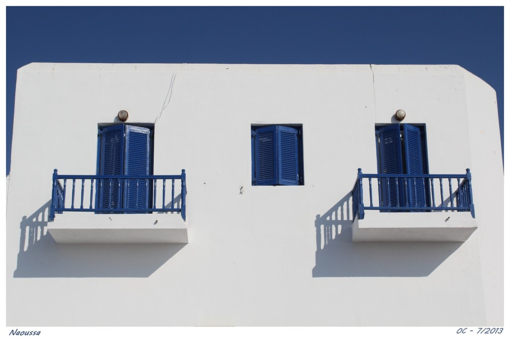 Naoussa, balcony in Greeece