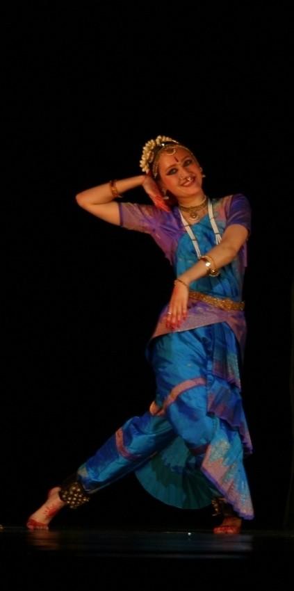 Mudra (stance) from a Bharatnatyam performance