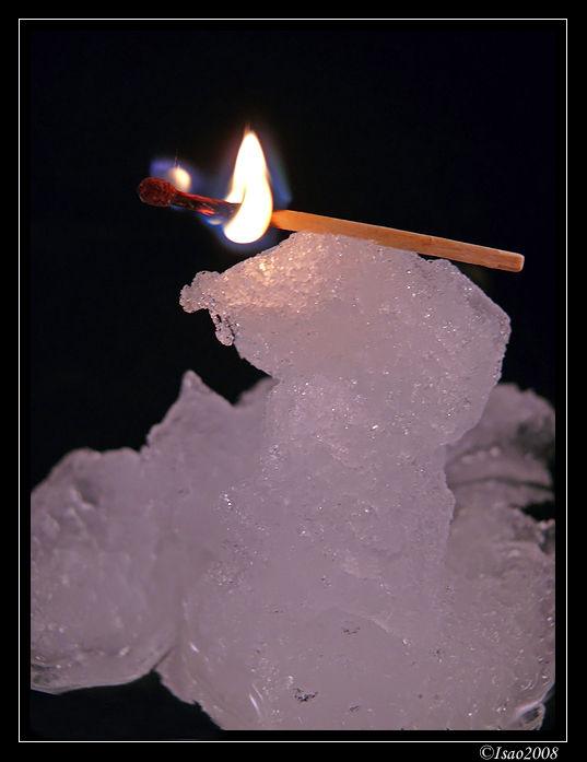 Le feu sur la neige