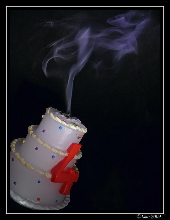Fumée de bougie d'anniversaire !