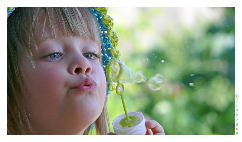 Souffler des bulles de savon