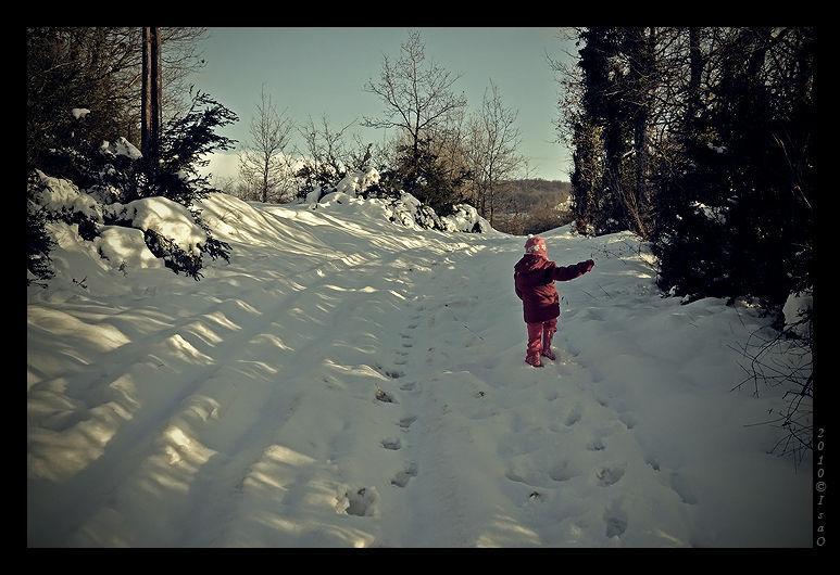 Perdue dans la neige