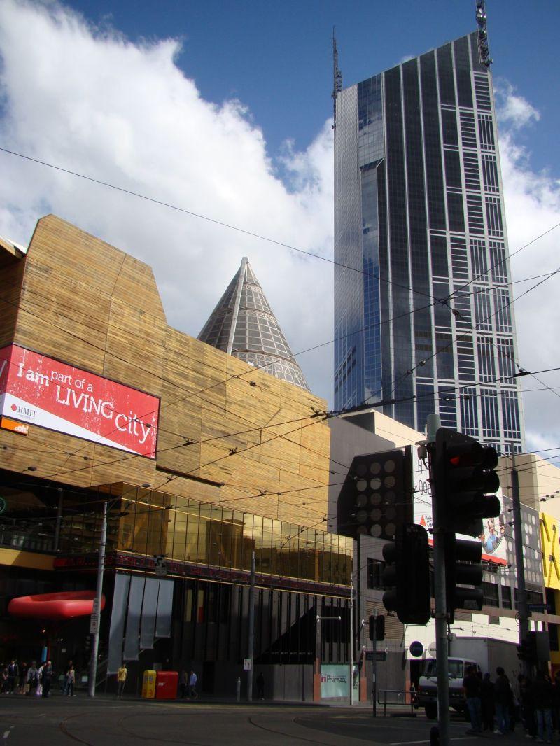 Melbourne Central at the cnr of La trobe/Swanston