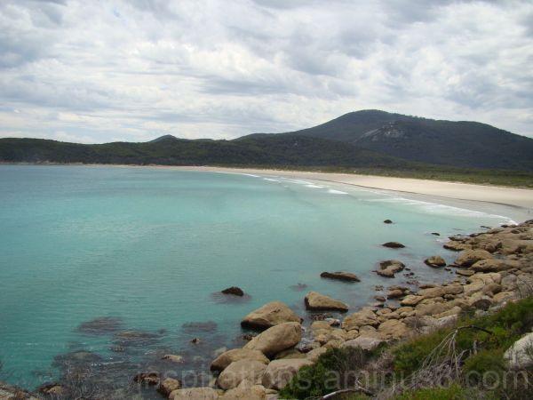 oberon bay, wilson's prom beach ocean