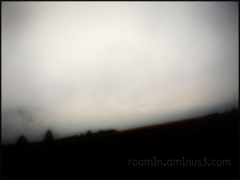 rain hillside along-the-highway inclement stormy