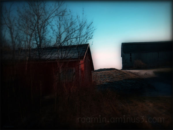 farm nightfall agriculture barn roamin brow hill