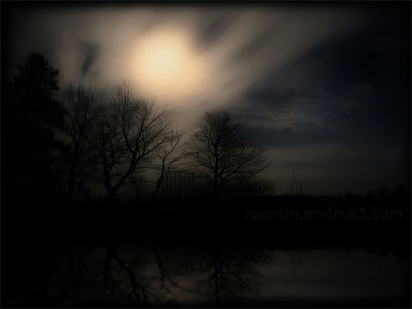 composite darkened landscape moon requiem roamin