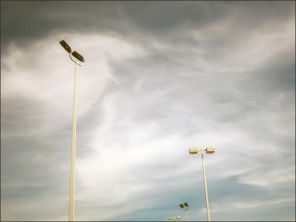 storm-clouds lightstandards afternoon roamin sky