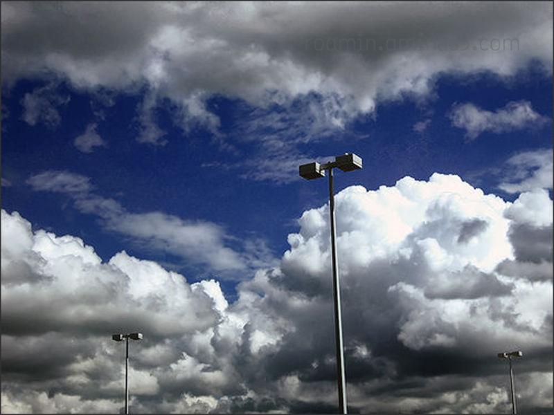 storm-clouds light-standards  afternoon roamin sky