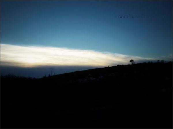 ridge marshlands winter sunset tree roamin blue