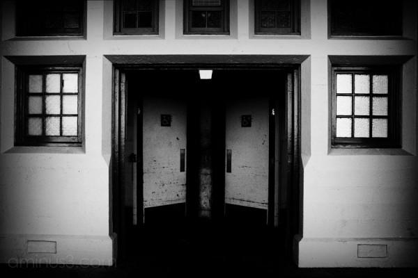 two doors in perfect symmetry