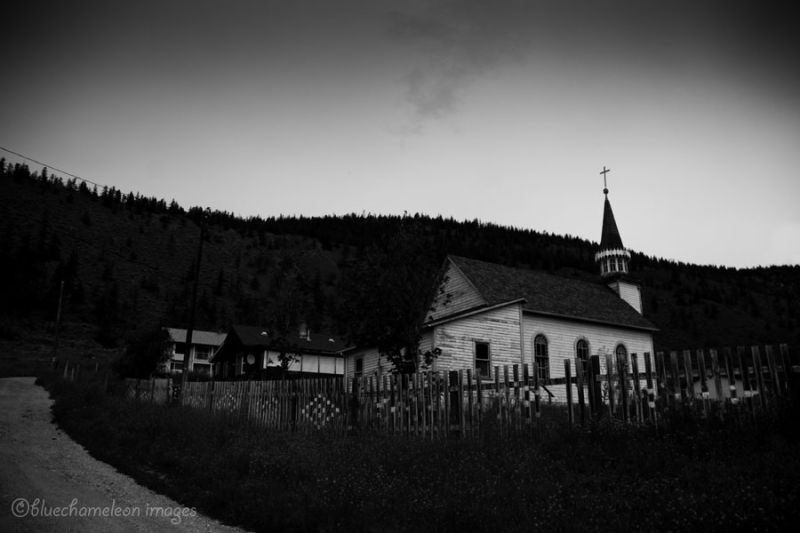A little church tucked away in the hills