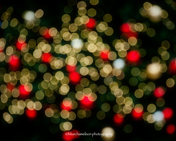 Bokeh Christmas light in the city