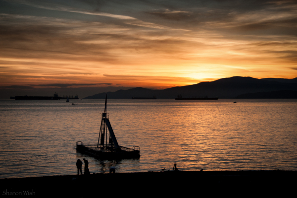 Golden hour on English Bay