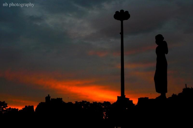 Sunset au Trocadero