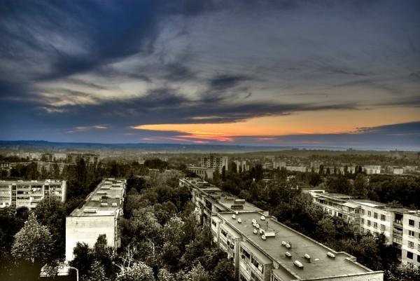moldova sunset city