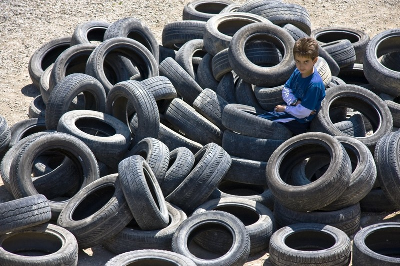 The catcher in the tyres