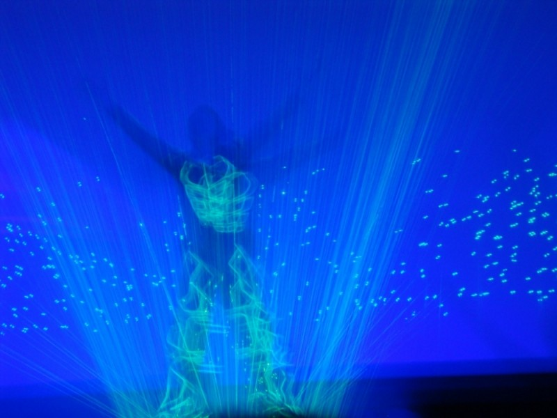 Capture in a laser show in Funchal, Madeira