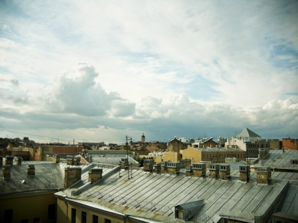 view of St.Petersburg`s roofs
