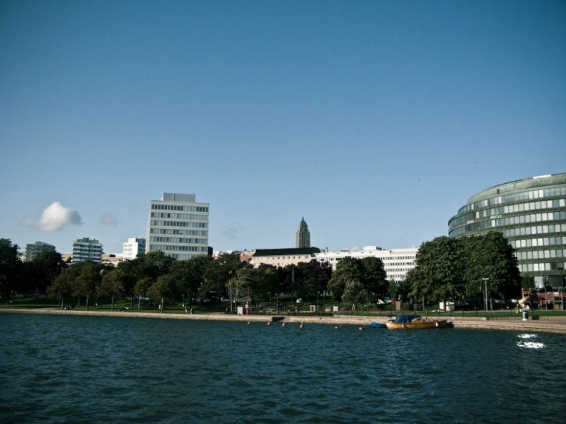 view of Kallio from the lakeside