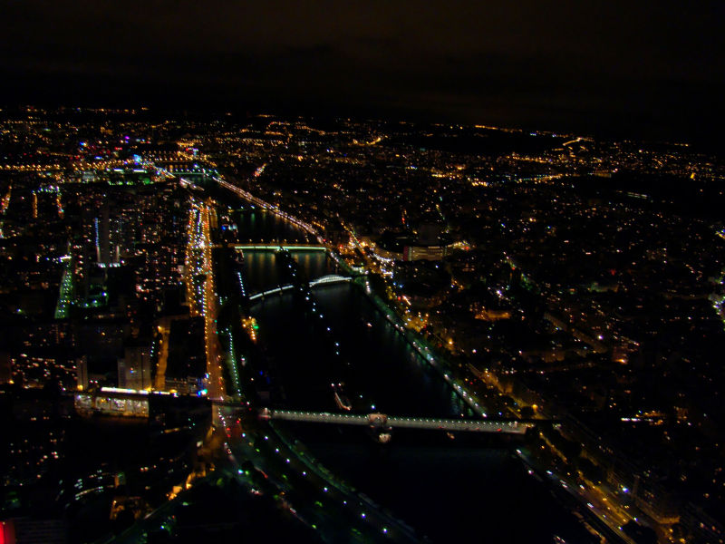 Paris from top of Eiffel tower