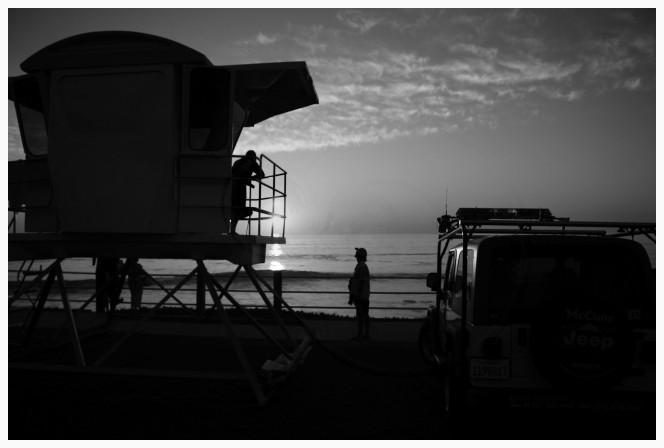 The Lifeguard Station At Sunset