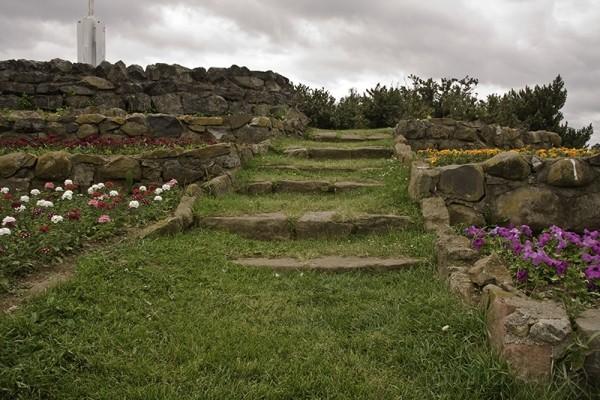 stone stairway in the garden
