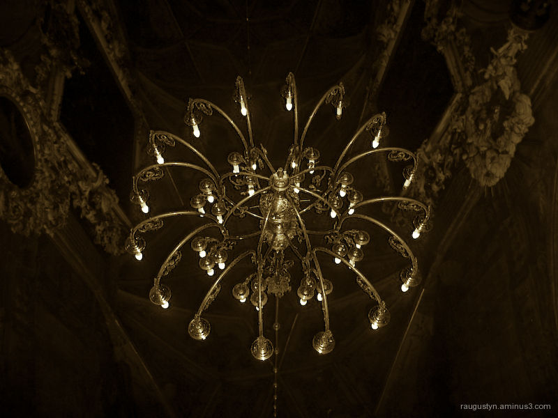 Old chandelier in a church