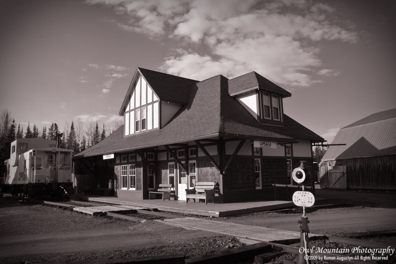 Old train station building in northern Ontario