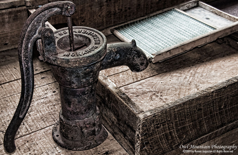 Old kitchen faucet use by first pioneers