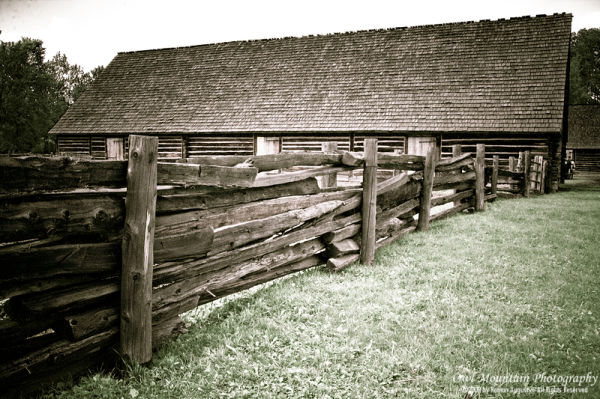 old cedar fencing on farm
