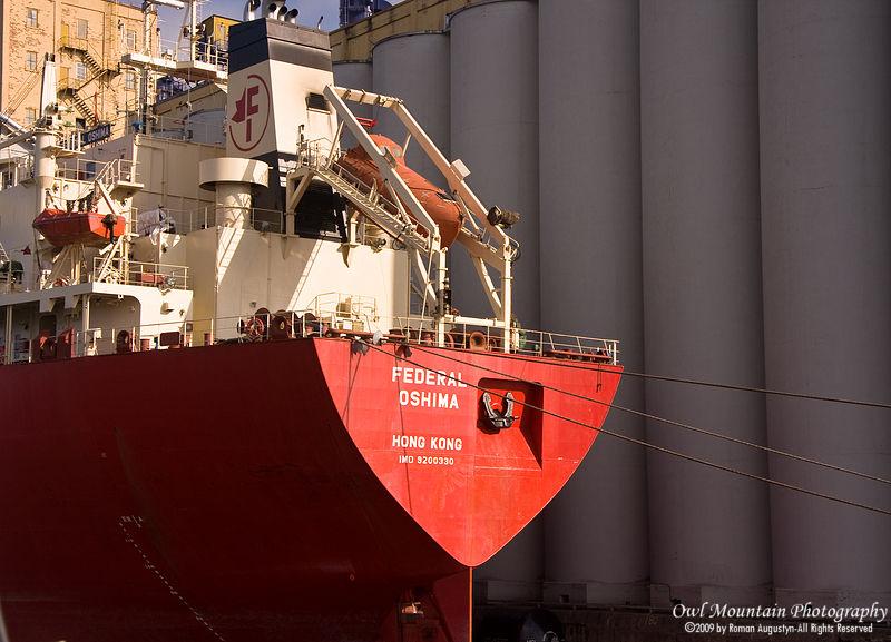 ship in thunder bay port to pick up grain