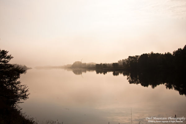 dreamy landscape of Lake superior
