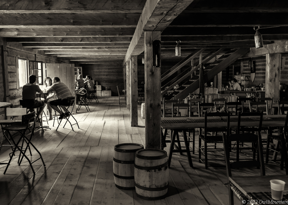old rustic tavern at Old Fort William Park