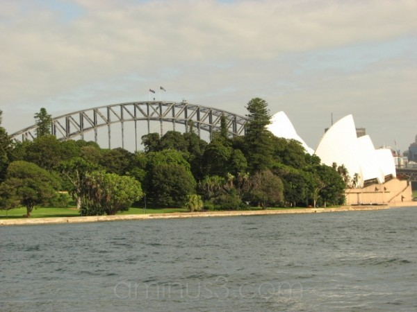 Sydney Harbour from behind