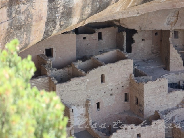 Mesa Verde Cliff Dwellings from above