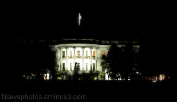 The White House by night