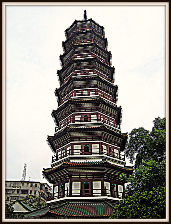 Six Banyan Tree Temple Pagoda
