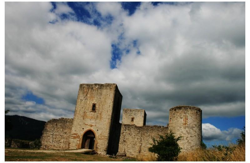 remnance of Cathar castle ...
