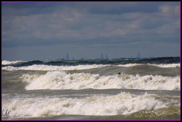 Wild waves on Lake Michigan