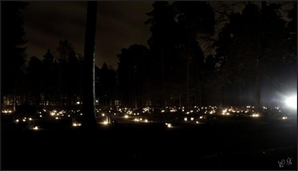 All Hallows eve at Skogskyrkogården