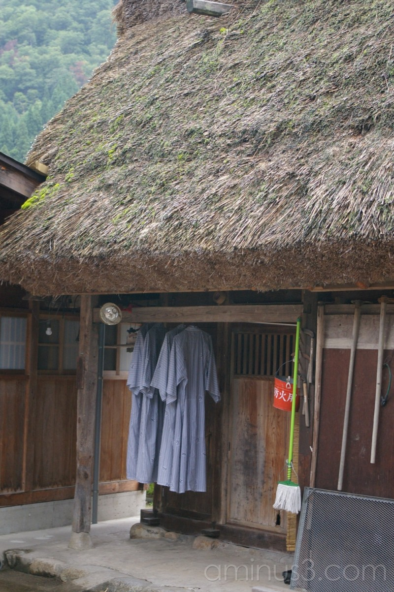 Hang out to dry; yukata in Shirakawago-