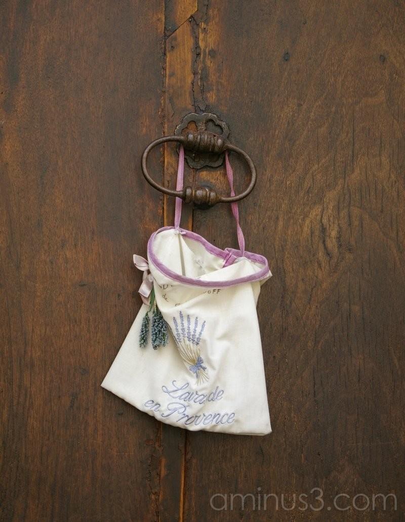 Door with lavender sachet